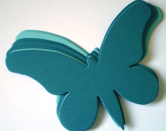 Large Teal Die Cut Butterflies