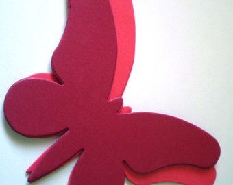 15 Large Red Die Cut Butterflies