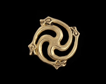 Viking Age Brooch with Serpents