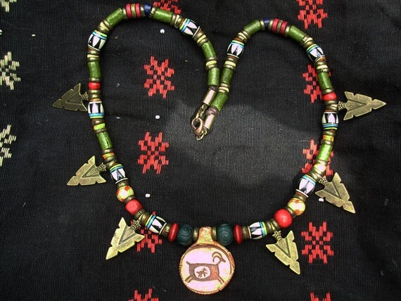 American Indian style, Mama and baby Goat,Necklace ,20inch
