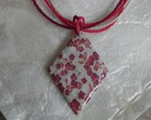 Rosie Posie Red Floral Beaded Necklace