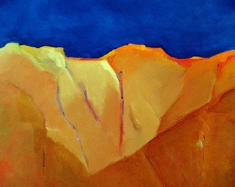 """Abstract landscape original oil painting 16""""x20"""" on canvas New Mexico sky"""