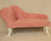 PETSY DECOR chaise lounge dog bed minky fabric Pink