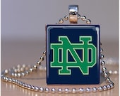 Notre Dame University - Scrabble Tile Pendants by ThatsSoCoolStudio