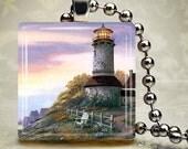 Harbourside Lighthouse - Glass Tile Pendants by ThatsSoCoolStudio