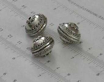 SALE_last 2pcs-16x13mm, large, antique silver, beads, spacers, connector, vintage style, focal necklace, bracelet