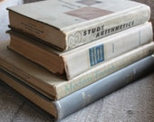 Shabby Chic Vintage Gray Beige Book Bundle Instant Collection Decor