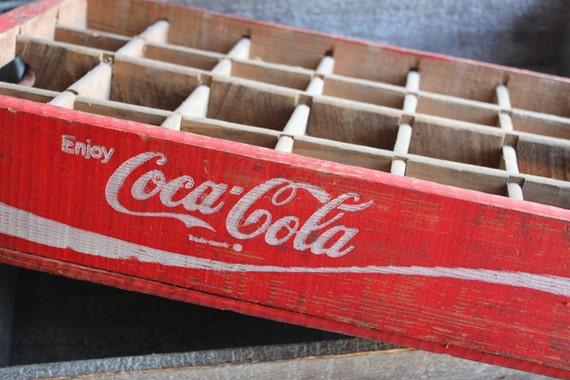 Vintage Red Coca Cola Wooden Crate