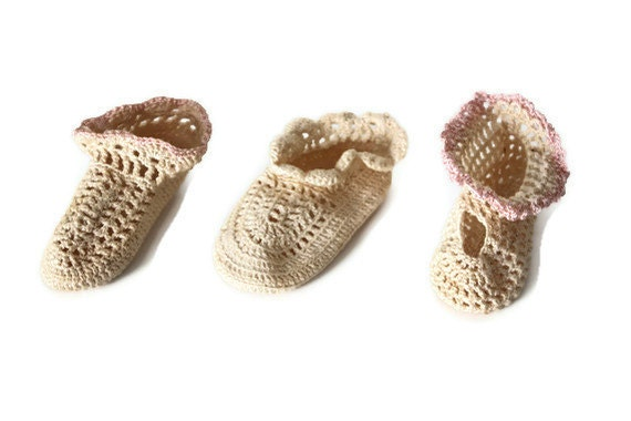 Vintage Baby Crochet Shoes