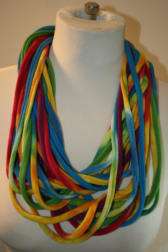 T Shirt Scarf/Necklace