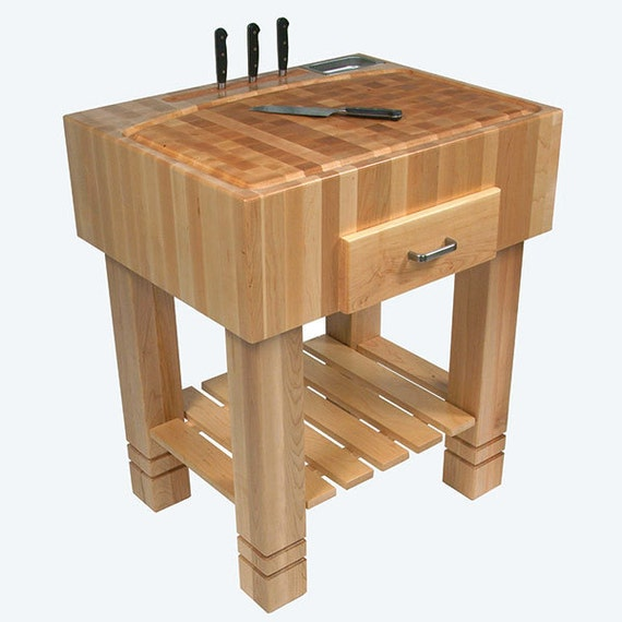 Butcher Block Island Table