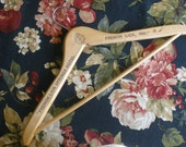 Wooden CLOTHES HANGER  from French Lick Springs Hotel Indiana