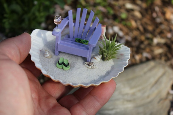 Miniature Beach Vacation in a Shell by Landscapes In  Miniature