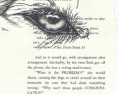 SALE Original Wolf Eye Drawing on Book Page