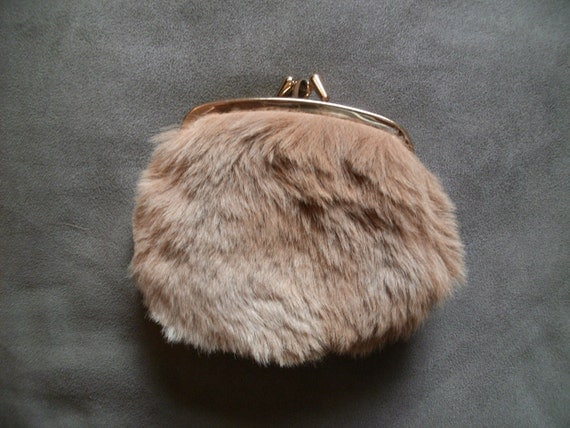 ON SALE Genuine Kangaroo Fur Vintage Purse