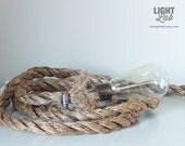 Manila Rope Lamp - Nautical / Industrial Lamp