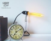 Simple Clamp Light with Vintage Bulbs
