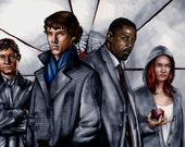 Sherlock Luther BBC 11x17 Original Painting by artist Jonathan D. Gordon