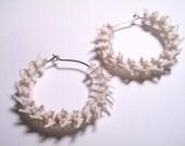 Snake Earrings Animal Bone Earrings Snake Vertebrae Hoops Taxidermy Jewelry