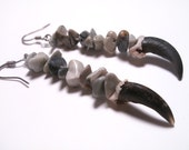 Claw Earrings for Women Coyote Earrings Taxidermy Jewelry