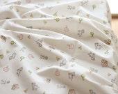 Baby Cotton Interlock Knit Fabric, Farm Story  per Yard 10259