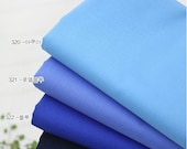 High Quality Cotton Fabric Solid Blue Series in 4 Colors - Aqua, Royal Blue, Blue or Navy - By the Yard 18749 GF21663