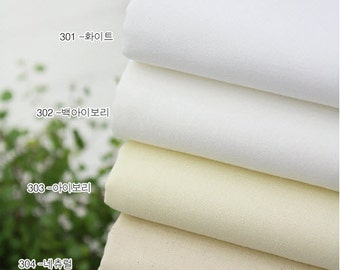 High Quality Cotton Fabric Solid White Series in 4 Colors per Yard 18753