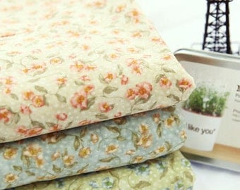 Begonia Cotton Fabric in 3 Colors - Fabric by the Yard 11644