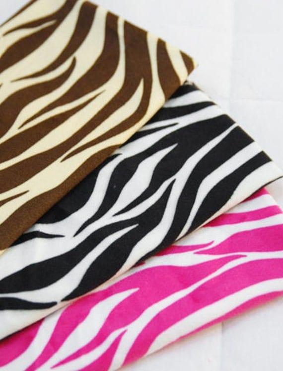 Zebra Super Soft Microfiber per Yard Choose from 3 Colors