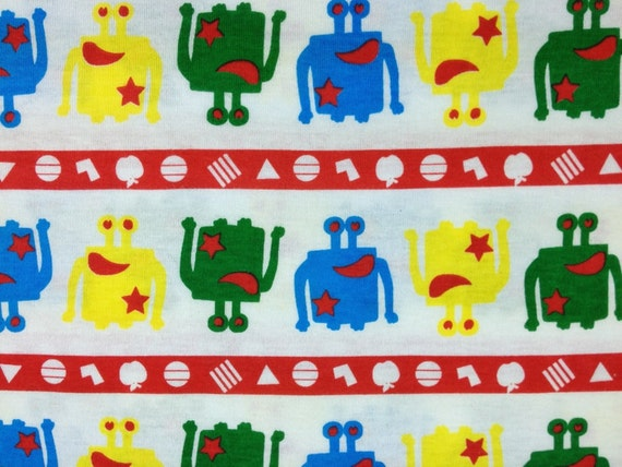 Clearance - Cotton Jersey Knit Parade of Monsters 1 Yard