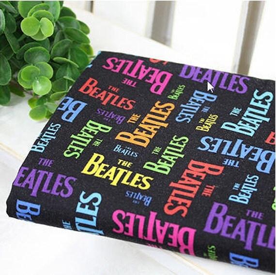 Cotton Fabric Beatles 1 Yard