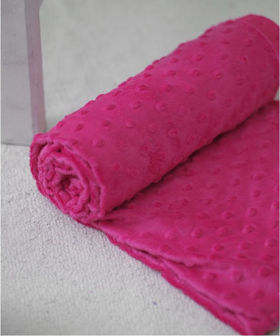 3 mm Minky Dimple Dot Hot Pink 1 Yard -420