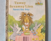 Tawny Scrawny Lion Saves the Day Childrens Golden Book