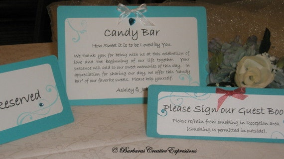 Custom Wedding Event Informational Tent Cards