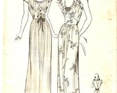 Butterick 2353 vintage Nightgown pattern size 16 bust 34