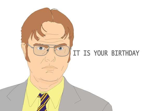 items similar to funny blank birthday card  dwight schrute from, Birthday card