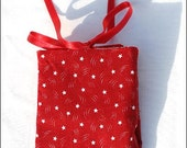 Red with White Stars Tea Wallet