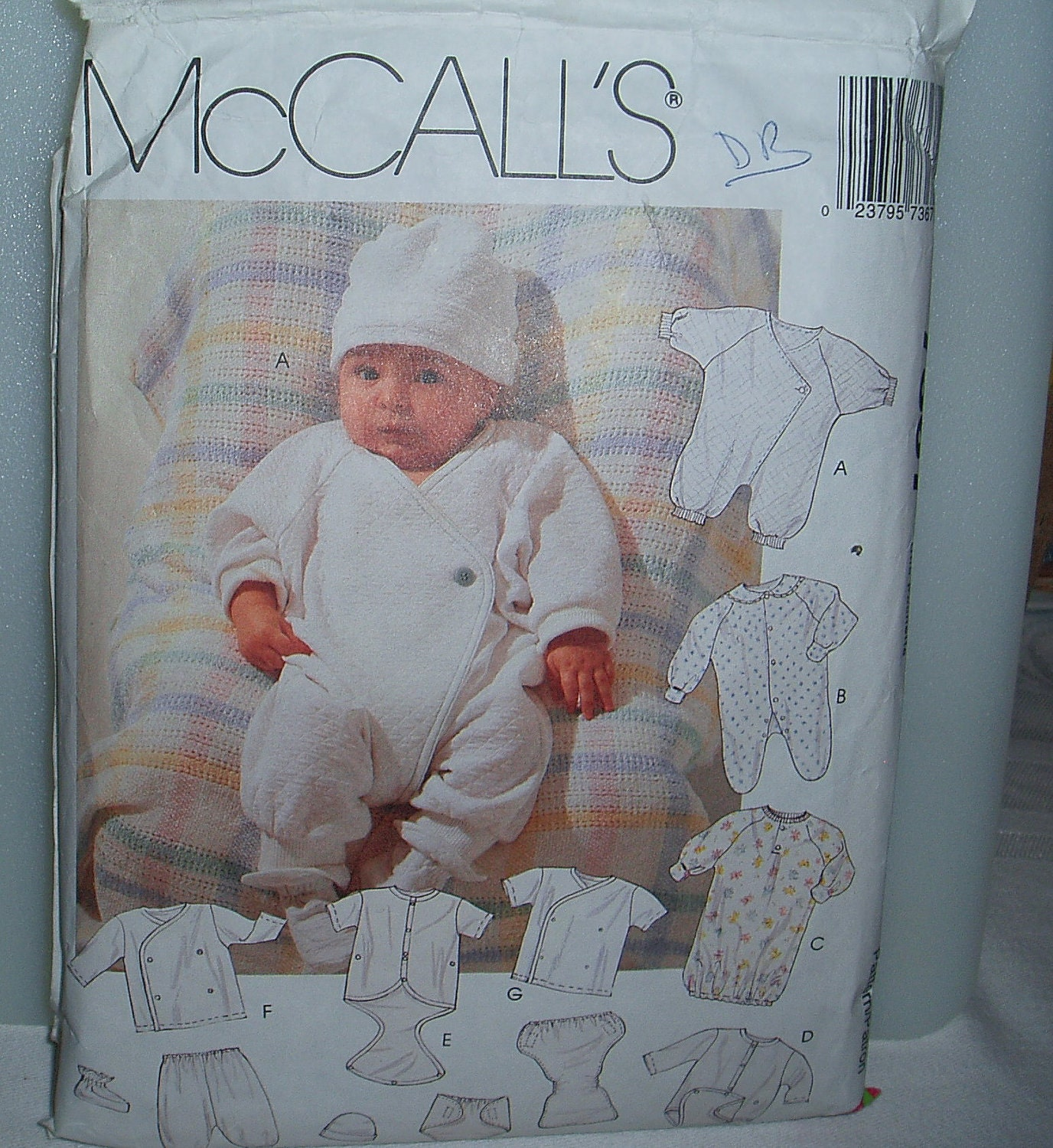 Preemie Newborn Infants Layette Sewing Pattern Mccalls 7367