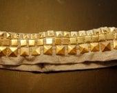Gold Pyramid studded headband