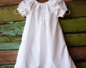 Heirloom smocked Dress, Baby Baptismal gown newborn 0-3 3-6 6-12 months 2t 3t 4t 5 6 coming home outfit christening