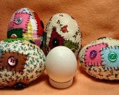 Fabric Patchwork Easter Eggs MHA  (4)    Free Shipping
