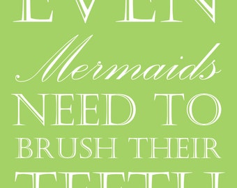 Popular items for print mermaid on Etsy