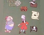 "Cricut Scrapbooking Die Cuts ""Peter Pans, Capt. Hook"""