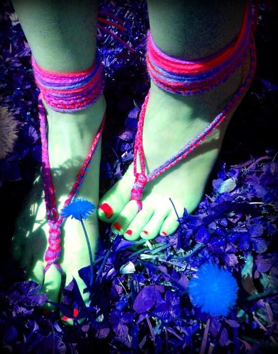 Create a Custom Pair- Barefoot Sandals, Hippie Shoes, Festival Feet