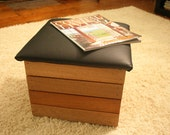 Reclaimed Sapele Crate with Cushioned Lid