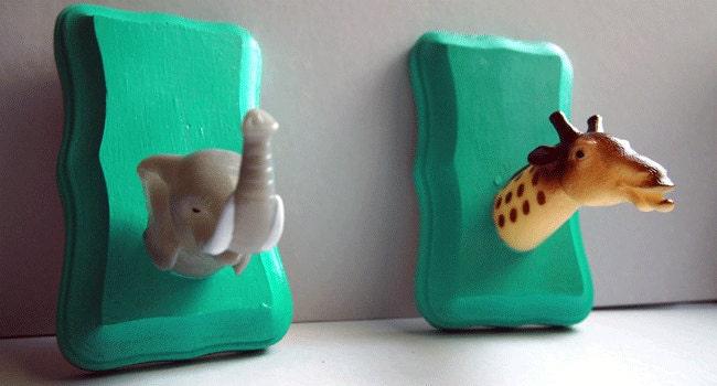 Elephant & Giraffe Toyidermy