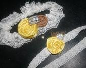 Copper Yellow Garter Set