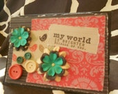 Mother's Day Card, Brighter World With Mom