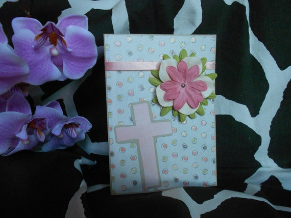 RESERVED for Aunt K Bloomin' Cross Easter Card