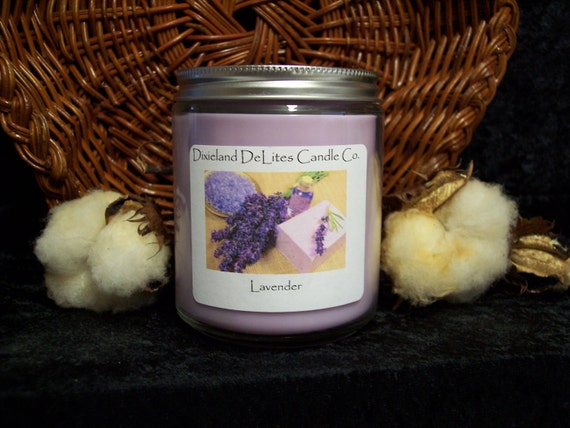 FREE Shipping - Lavender - 8 ounce Soy wax candle - Hand poured